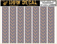 HGW DECAL 572004 1/72 4 Colour Lozenge Lower - Transparent