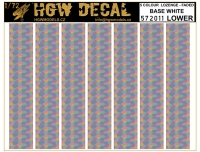 HGW DECAL 572011 1/72 5 Color Lozenge Lower - White Base