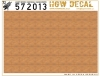 HGW DECAL 572013 1/72 Light Wood (Natural) - White Base