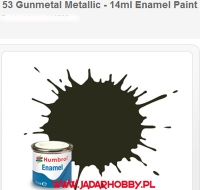 Humbrol 053 - Gunmetal Metallic - 14ml Enamel Paint