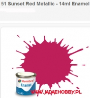 Humbrol 051 - Sunset Red Metallic - 14ml Enamel Paint