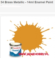 Humbrol 054 - Brass Metallic - 14ml Enamel Paint
