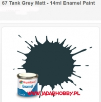 Humbrol 067 - Tank Grey Matt - 14ml Enamel Paint