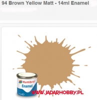 Humbrol 094 - Brown Yellow Matt - 14ml Enamel Paint