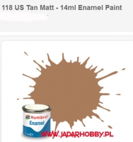 Humbrol 118 - US Tan Matt - 14ml Enamel Paint
