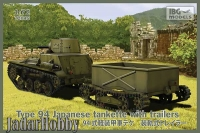 IBG 72045 1/72 Type 94 Japanese tankette with trailers (2 trailers in the box!)
