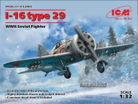 ICM 32003 1/32 I-16 type 29, WWII Soviet Fighter