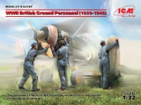 ICM 32107 1/32 WW2 British Ground Personel (1939-1945)