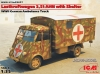 ICM 35417  1/35 Lastkraftwagen 3.5 AHN with Shelter, WWII German Ambulance Truck