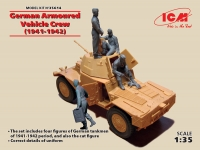 ICM 35614 1/35 German Armoured Vehicle Crew (1941-1942) (4 figures and cat)