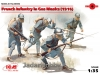 ICM 35696 1/35 French Infantry in Gas Masks (1916)