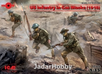 ICM 35704 1/35 US Infantry in Gas Masks (1918) (4 figures)