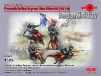 ICM 35705 1/35 French Infantry on the March (1914)