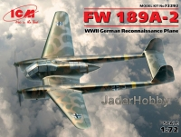 ICM 72292  1/72  FW 189A-2, WWII German Reconnaissance Plane