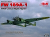 ICM 72293  1/72  FW 189A-1, WWII German Night Fighter
