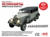 ICM 72472 1/72 G4 (1935 production) Soft Top, WWII German Staff Car