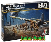 Italeri 1356 1/72 AS.51 HORSA Mk.I/II with British paratroops