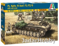 Italeri 6548 1/35 Pz.Kpfw. IV Ausf.F1/F2/G Eerly with rest crew