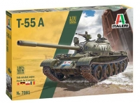 Italeri 7081 1/72 T-55A with fully detailed engine
