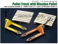 J's Work PPA4003 1/35 Pallet truck with Wooden Pallet