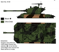 J's Work PPA5134 1/35 M4A3E8 Camouflage Scheme (Speical Edition)