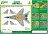 J's Work PPA5139 Airbrush CAMO-MASK for 1/48 MiG-29 Camouflage Scheme 3