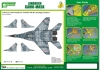 J's Work PPA5140 Airbrush CAMO-MASK for 1/48 MiG-29UB Camouflage Scheme 1