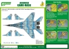 J's Work PPA5142 Airbrush CAMO-MASK for 1/48 MiG-29UB Camouflage Scheme 3