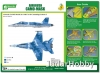 J's Work PPA5175 Airbrush CAMO-MASK for 1/48 F/A-18 Camouflage Scheme 2