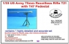 LZ Models 35505 (SALE) 1/35 75mm Recoilless Rifle T21 with T47 Pedestal