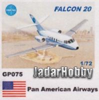 Mach 2 GP075 1/72 Falcon 20 Pan American Airways