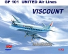 Mach 2 GP101 1/72 Vickers Viscount 700 United Air Lines