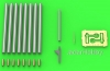 Master AM-24-016 1/24 P-47 Thunderbolt - details set - Browning .50 blast tubes, gunsight and Pitot Tube