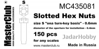 MasterClub MC435081 Slotted Hex Nuts, size S - 0.6mm