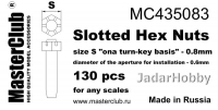 MasterClub MC435083 Slotted Hex Nuts, size S - 0.8mm