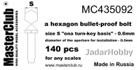 MasterClub MC435092 Hexagon Bullet-Proof Bolt, size S - 0.6mm