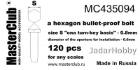 MasterClub MC435094 Hexagon Bullet-Proof Bolt, size S - 0.8mm