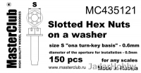 MasterClub MC435121 Slotted Hex Nuts on a Washer, size S - 0.6mm