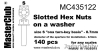 MasterClub MC435122 Slotted Hex Nuts on a Washer, size S - 0.7mm