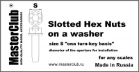 MasterClub MC435126 Slotted Hex Nuts on a Washer, size S - 1.2mm