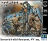 "MB 35116 1/35  ""Hand-to-hand fight, German & British infantrymen, WW I era"""