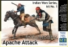 MB 35188 1/35 Indian Wars Series, kit No.1. Apache Attack