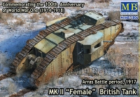"MB 72006 1/72 MK II ""Female"" British Tank, Arras Battle period, 1917"