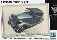 MB 35100 German military car, Typ 170 V, Tourenwagen, 4 Türen, 1937-1940 (1:35)
