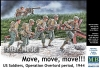 "MB 35130 1/35  ""Move, move, move!!!"" US Soldiers, Operation Overlord period, 1944"""