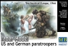 MB 35157 1/35 US and German Paratroopers, the South of Europe, 1944