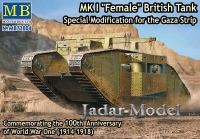 MB 72004 1:72 MK I Female British Tank, Special Modification for the Gaza Strip