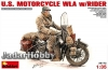 MiniArt 35172 1/35 US Motorcycle WLA with Rider