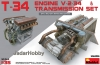 MiniArt 35205 1/35 T-34 Engine(V-2-34) & Transmission Set