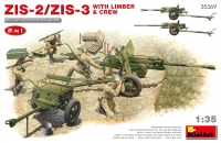 MiniArt 35369 1/35 ZIS-2/ZIS-3 With LIMBER & CREW. 2 IN 1